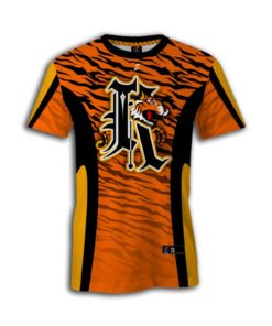 Women sublimated fastpitch crew neck jersey