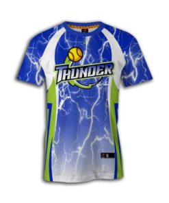 Women's sublimated fastpitch crew neck jerseys