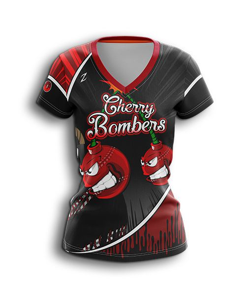 softball v neck jersey