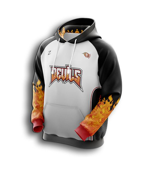 Men sublimated basketball hoodies
