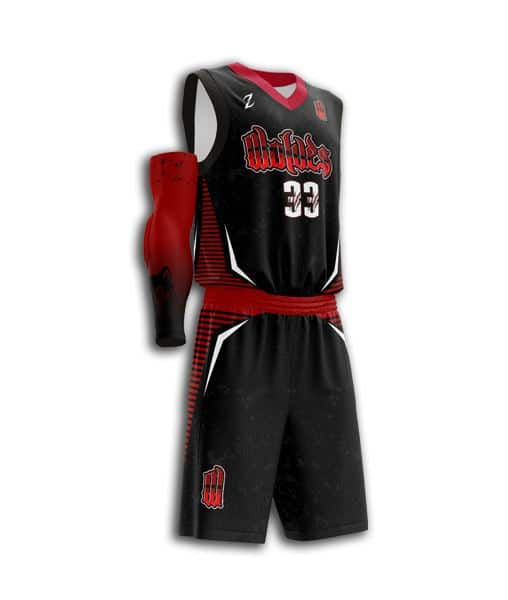 custom black basketball uniforms