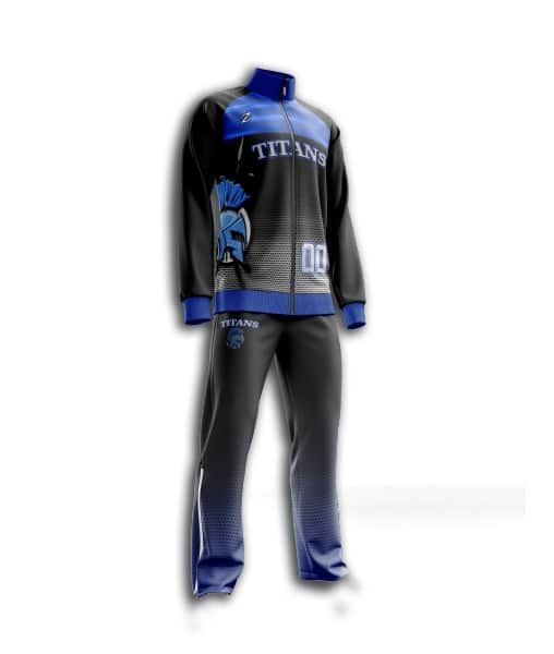Custom sublimated basketball pregame suits